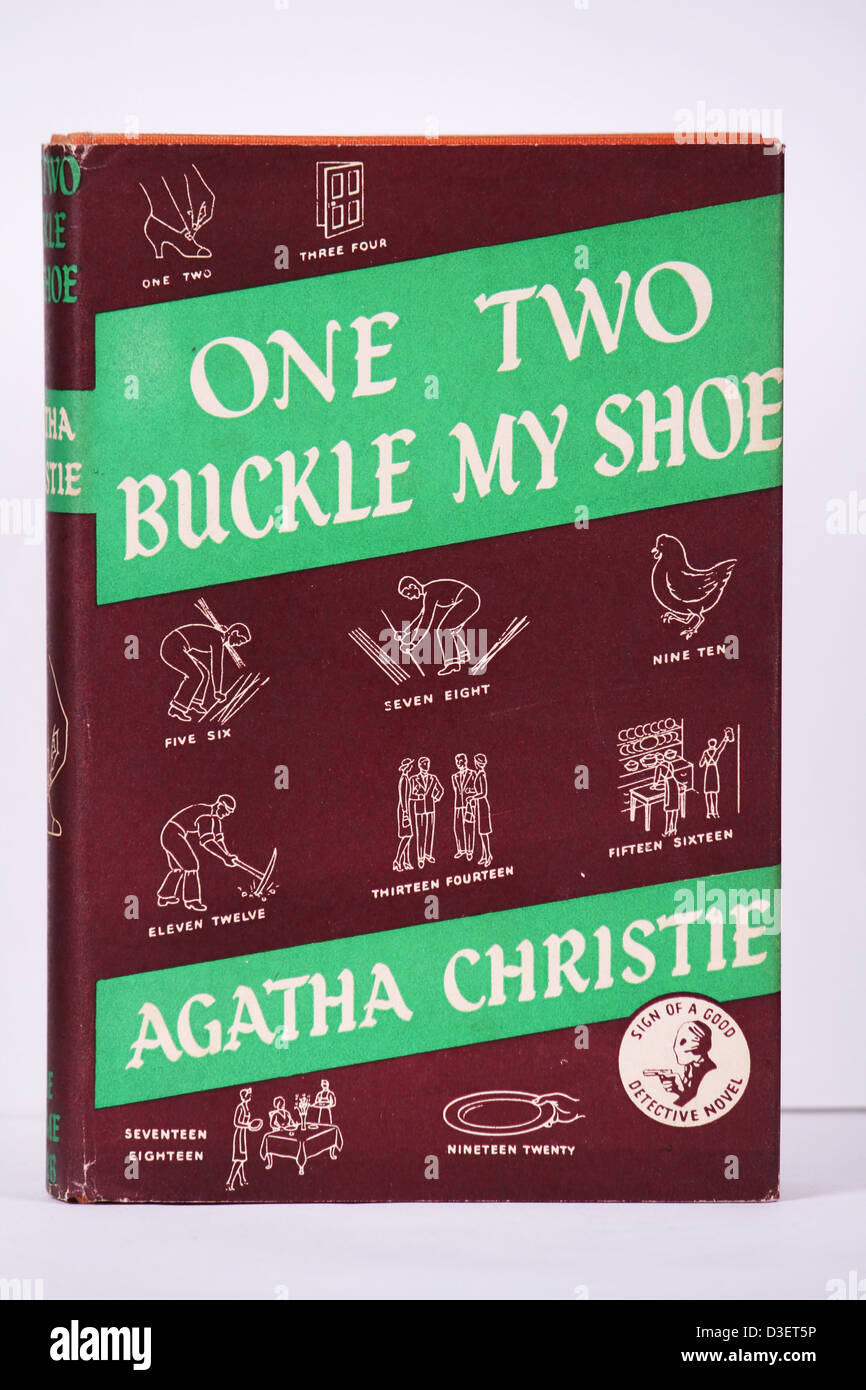 Agatha Christie Book A UK First Edition of One, Two, Buckle My Shoe Published in 1940 A rare Hercule Poirot book - Stock Image