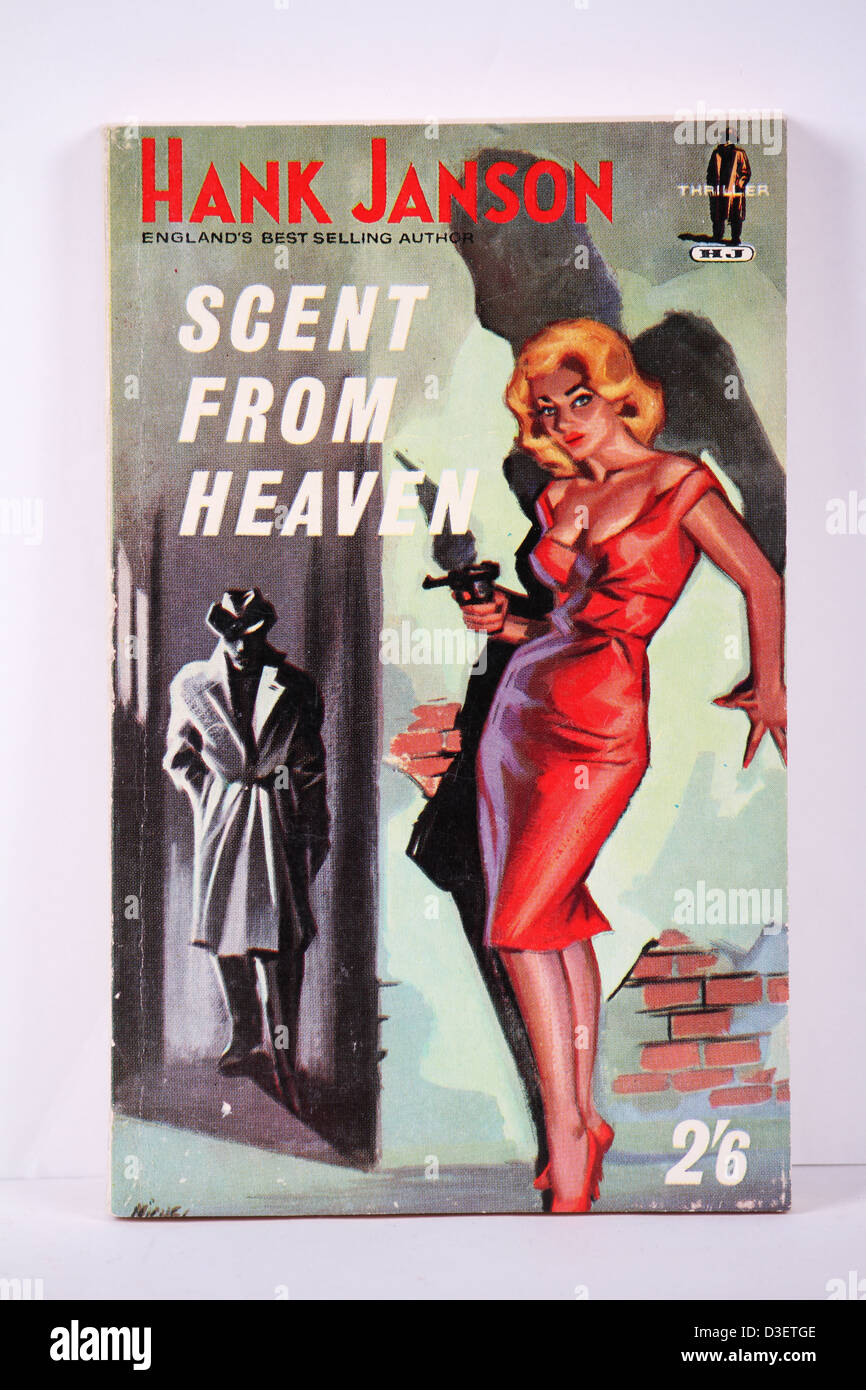 Pulp Fiction Good Girl Artwork 1950s Hank Janson Book Cover - Stock Image