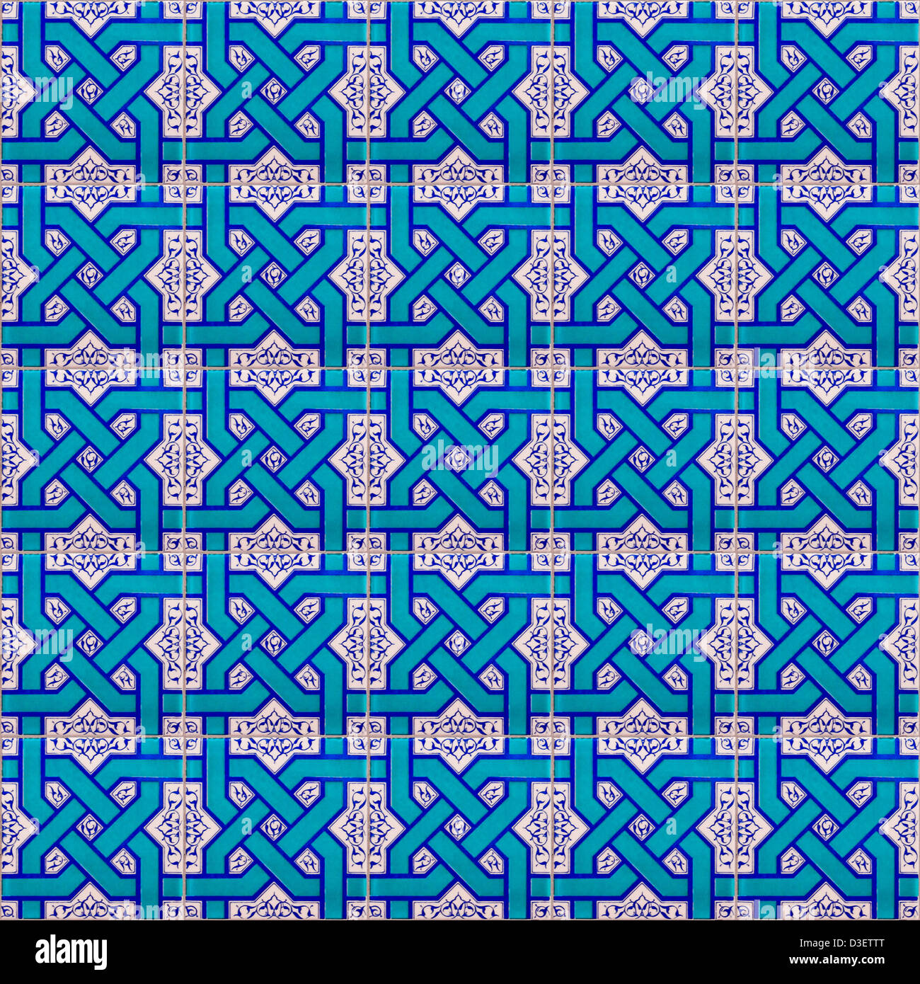 A seamless background image of islamic patterned ceramic tiles for ...