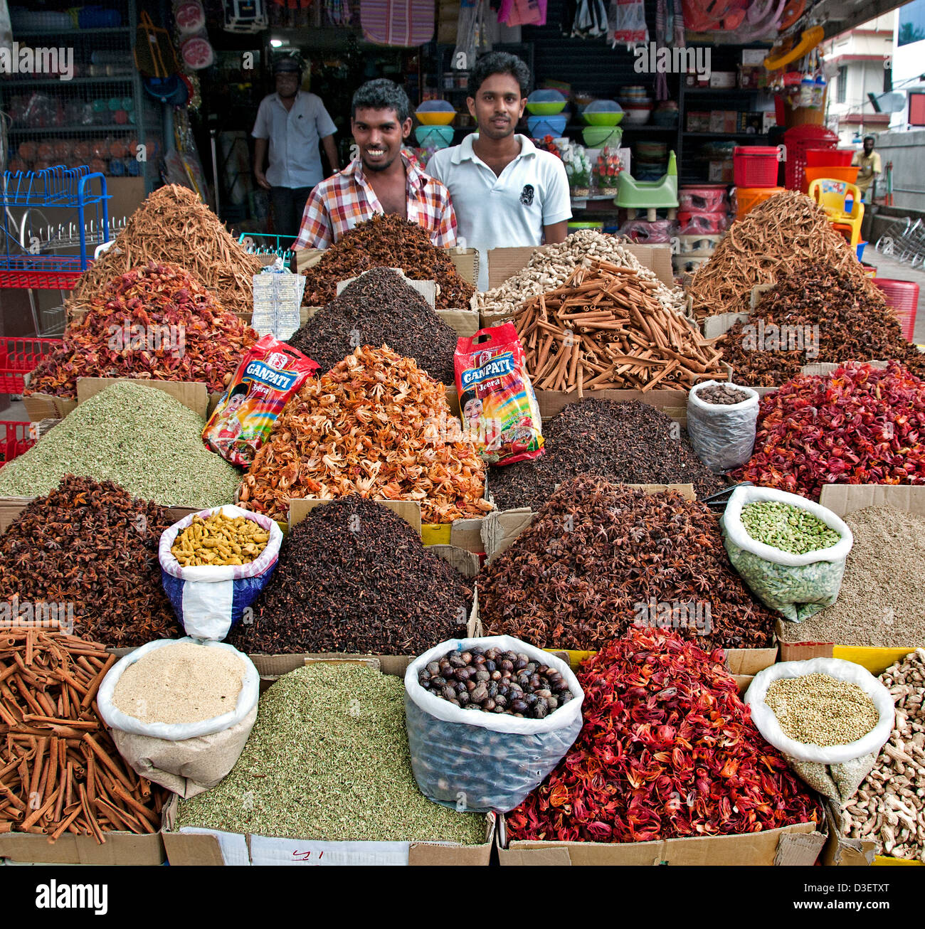 Alappuzha Alleppey  Kerala India spice trade India - Stock Image
