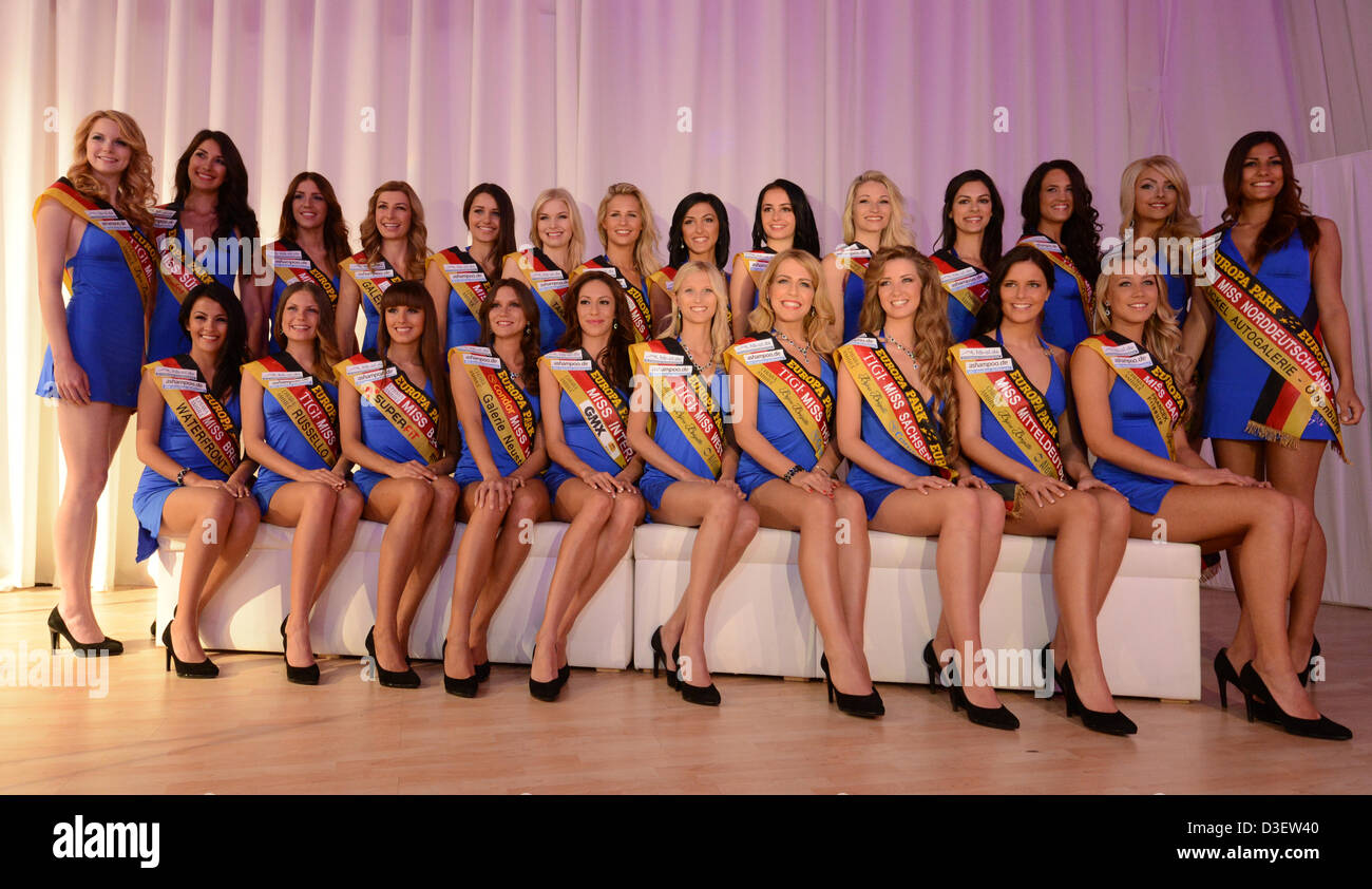 """The 24 contestants in the """"Miss Germany"""" competition pose ..."""