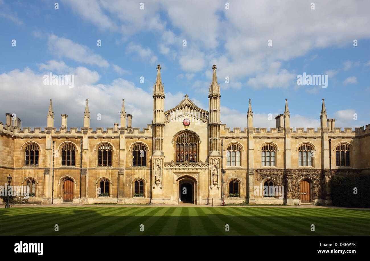 College of Corpus Christi and the Blessed Virgin Mary in Cambridge, UK. Stock Photo