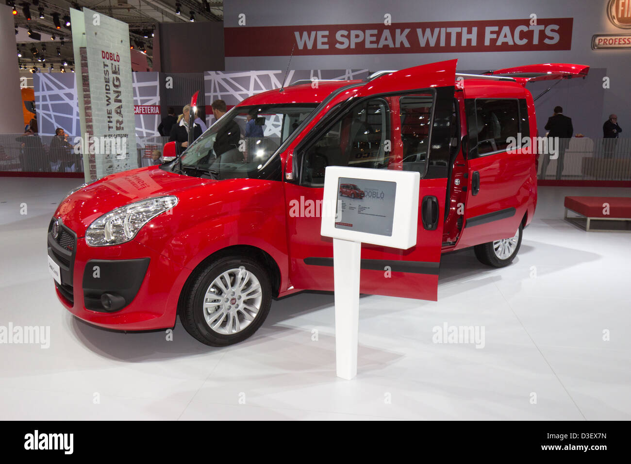 New Fiat Doblo Van at the IAA International Motor Show for Commercial Vehicles 2012. Hannover, Germany - Stock Image