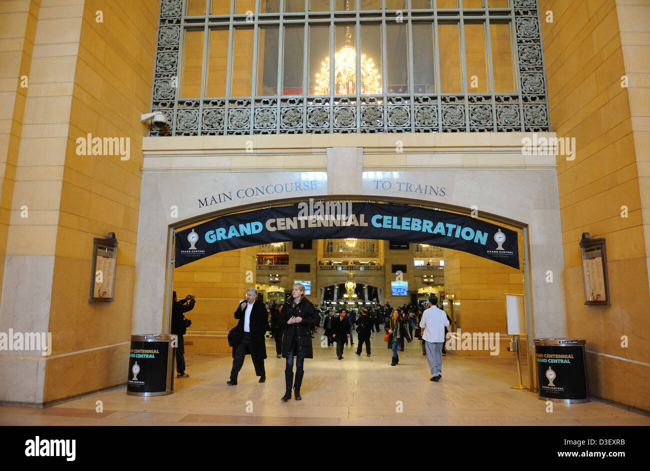 Grand Central Terminal is celebrating its centennial. The landmark train station in midtown Manhattan opened on - Stock Image