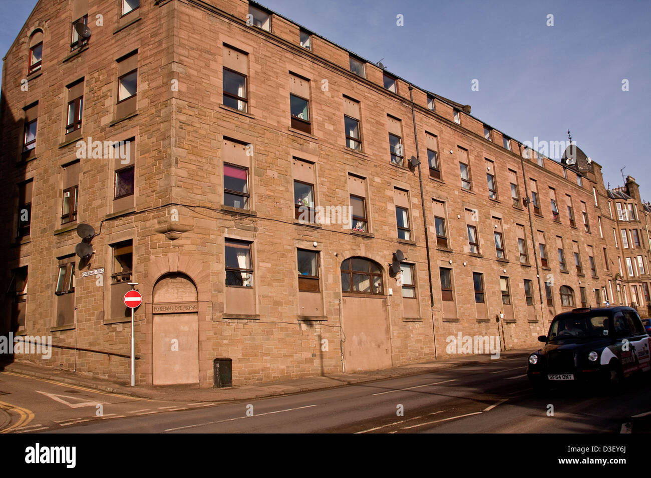 Dyeworks owned originally by J & F Stevenson who sold it to their manager William Watson in 1895 following a - Stock Image