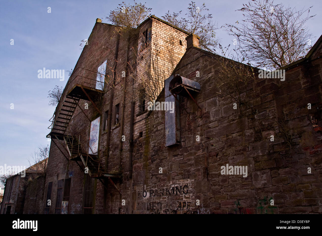 Abandoned and derelict 19th Century Queen Victoria Works in Dundee,UK - Stock Image