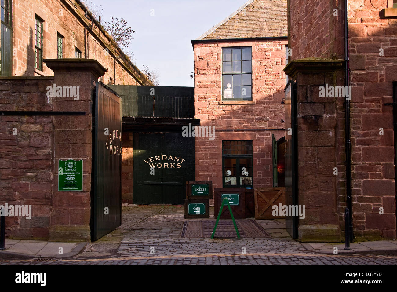 The Dundee Verdant Works was given Category A listed building status by Historic Scotland in 1987,UK - Stock Image