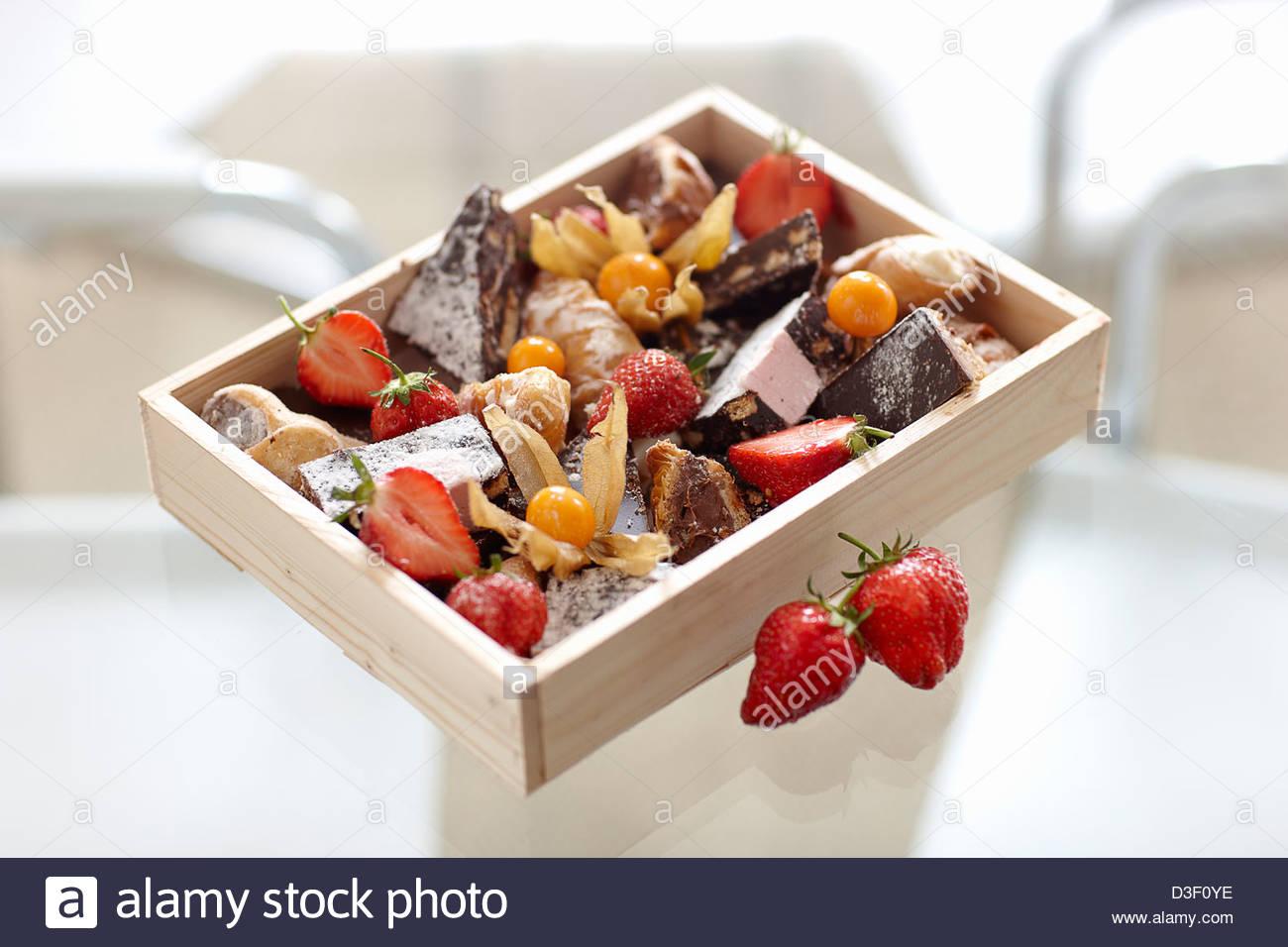 Cake box selection - Stock Image