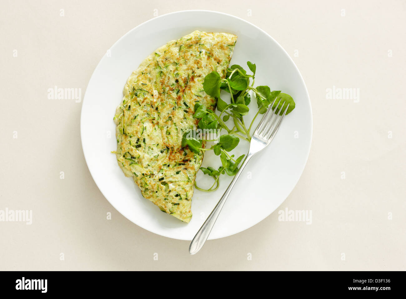 courgette omelet omlette Stock Photo