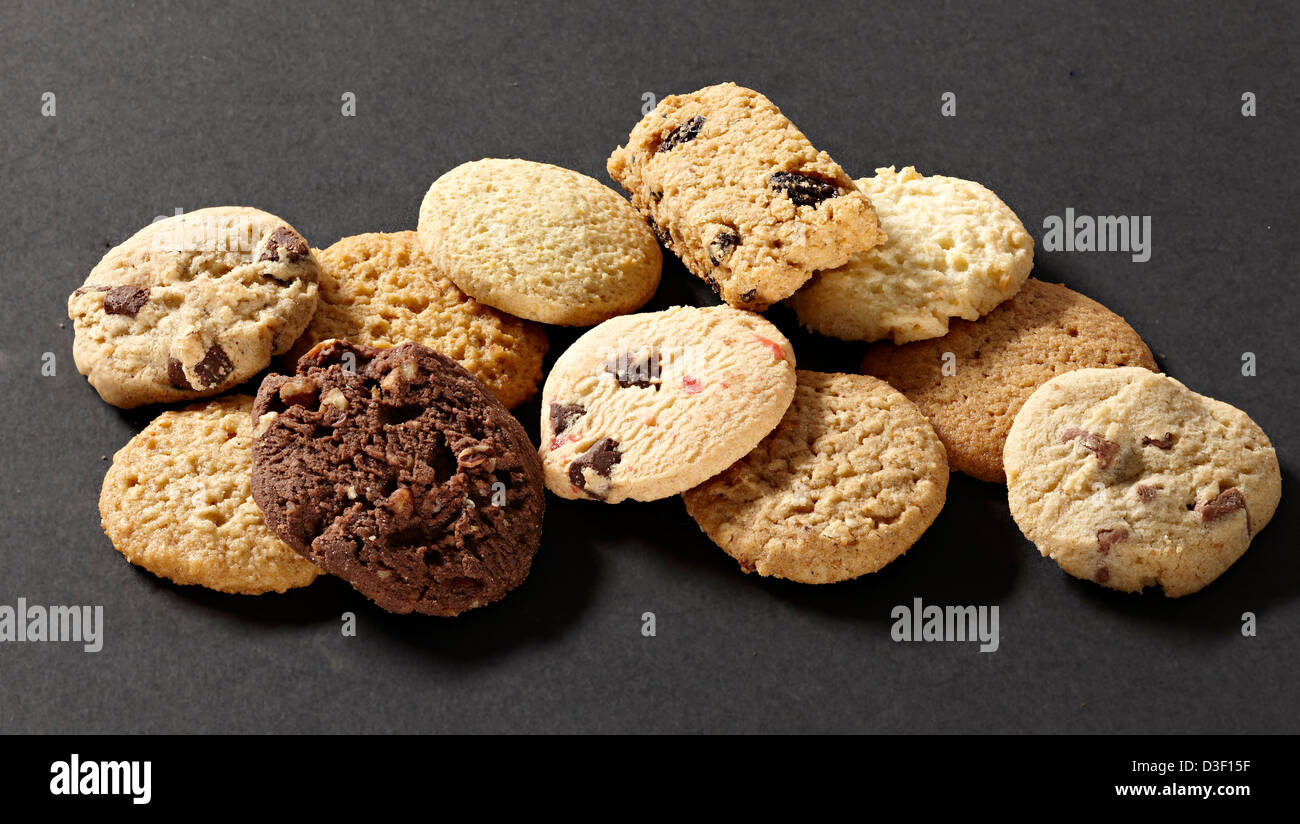 Fancy biscuit selection - Stock Image