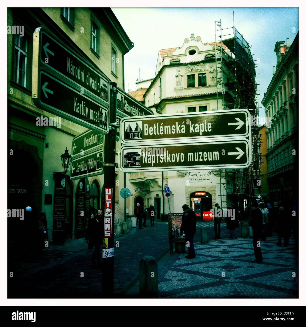 Feb. 7, 2013 - Prague, Czech Republic - Prague, the capital of the Czech Republic, is. home to a number of famous - Stock Image