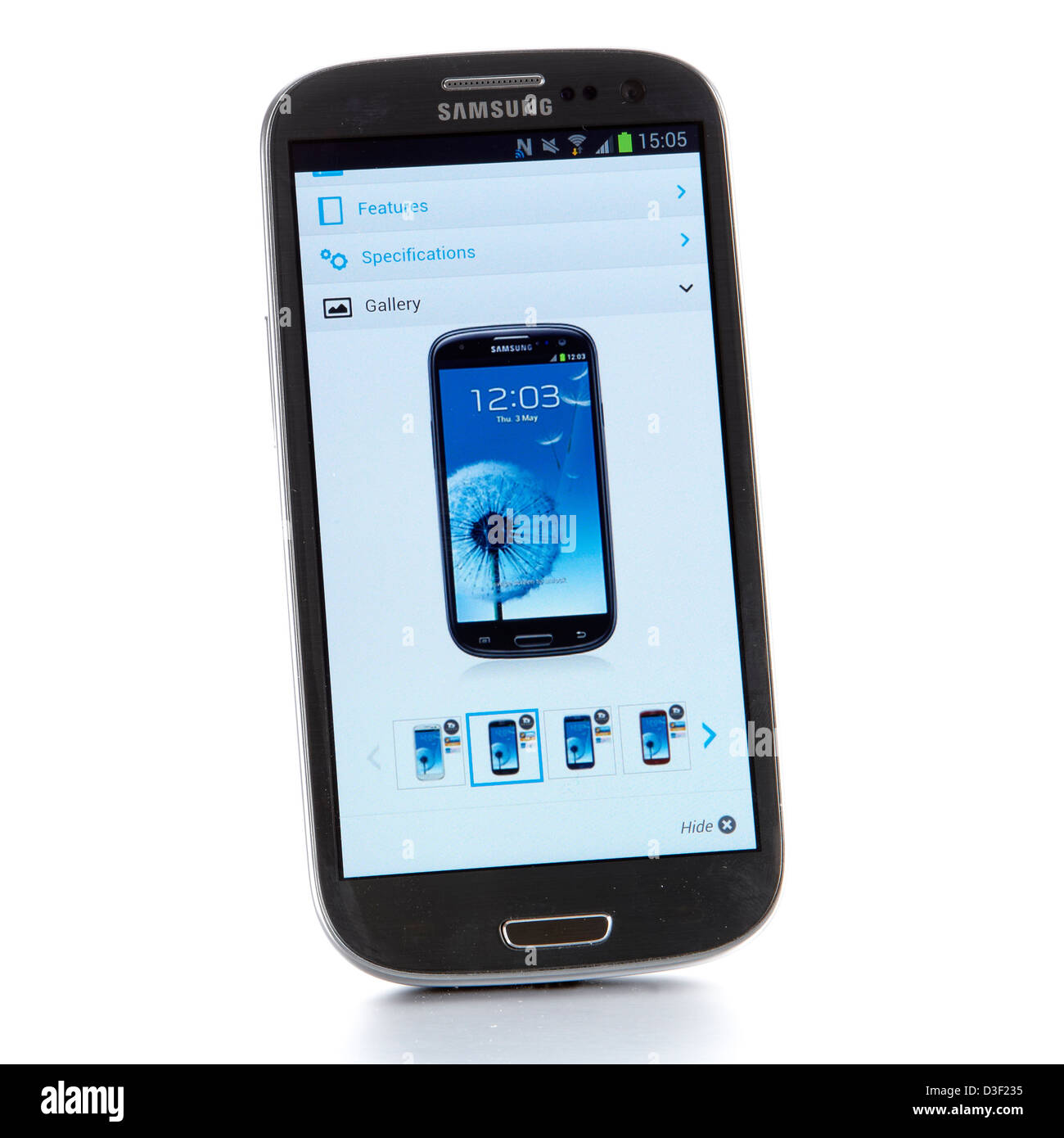 Samsung Galaxy smart phone Google - Stock Image