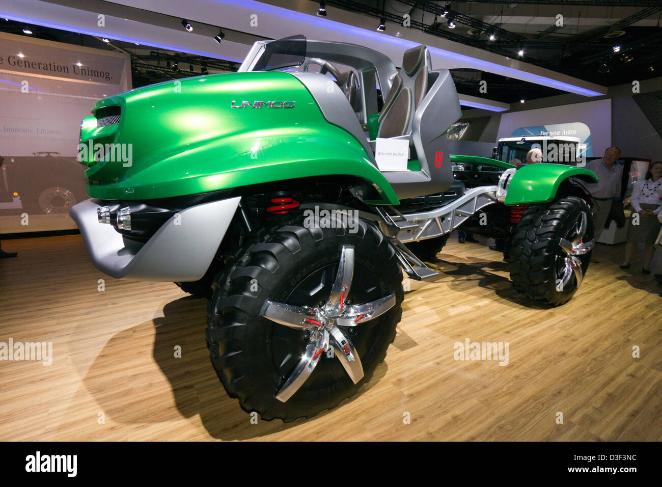 New Mercedes Benz Unimog  car at the IAA International Motor Show for Commercial Vehicles 2012. Hannover, Germany Stock Photo