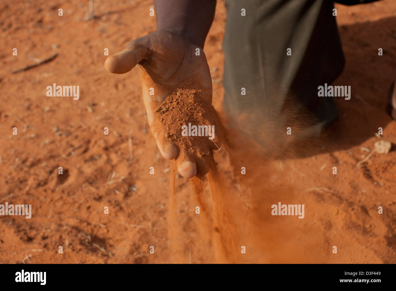 DAWDER, NORTH OF ELWAK, EASTERN KENYA, 1st SEPTEMBER 2009: There has been no rain for 18 months. - Stock Image