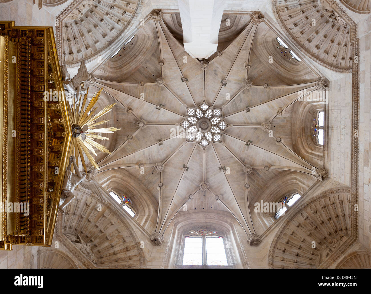 One of the cupolas in the burgos cathedral - Stock Image