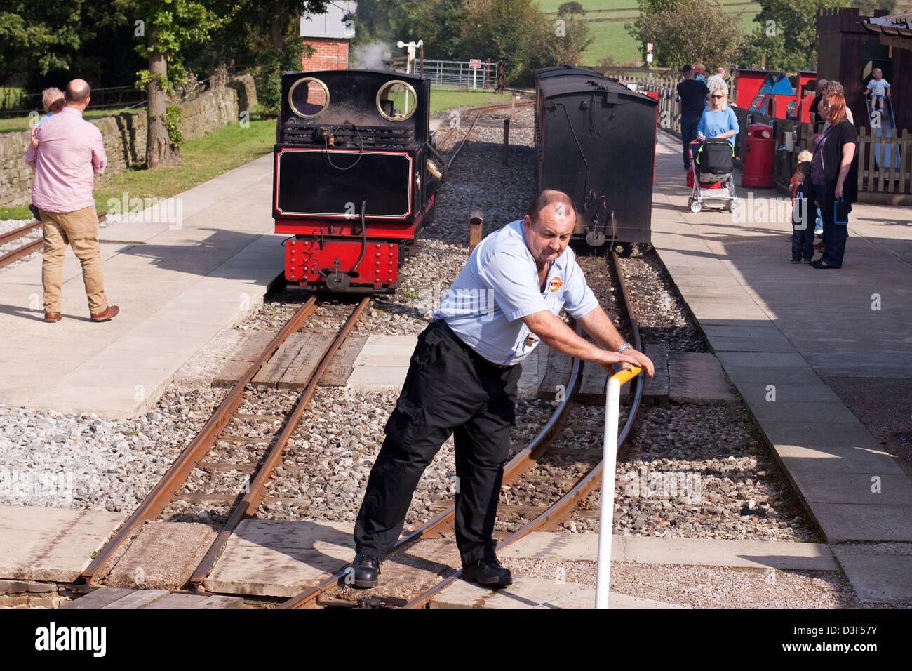 Shelley Railway station, Kirklees light railway. - Stock Image