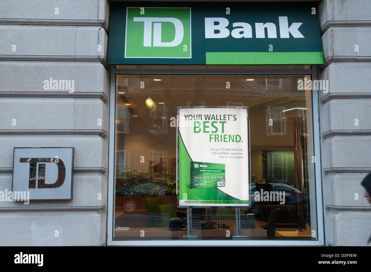 TD Bank Cambridge - Stock Image