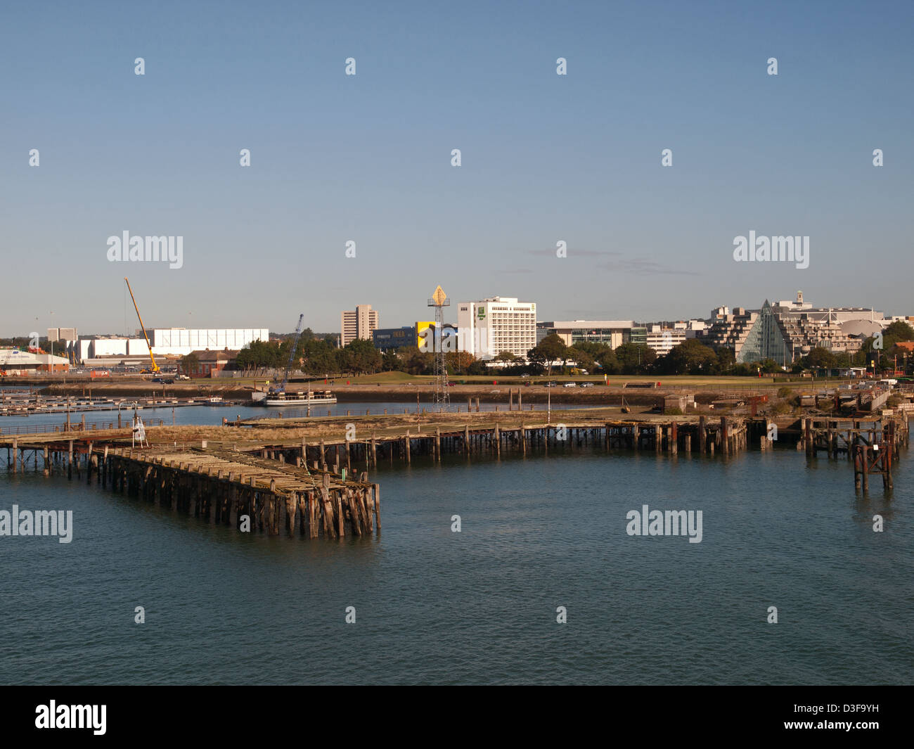 Remains of the Royal Pier in Southampton Port Hampshire England UK - Stock Image