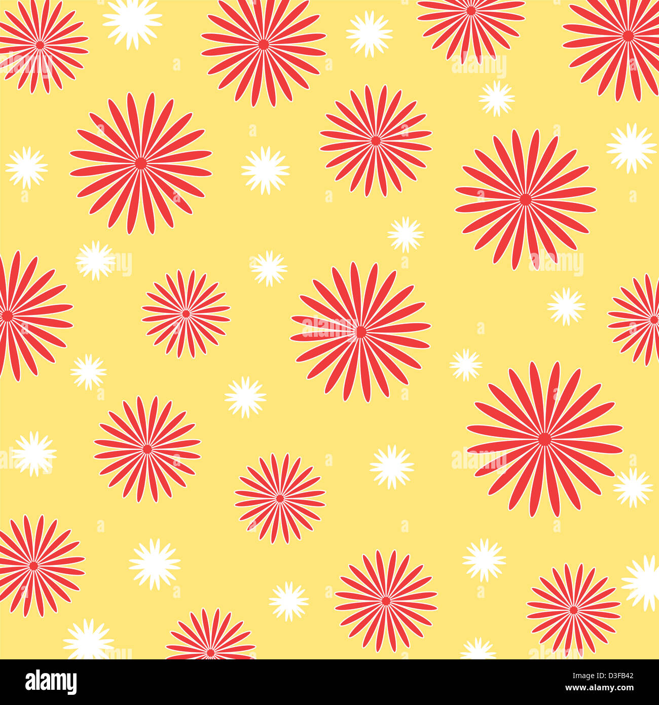 Seamless artistic floral pattern in bright colors Stock Photo