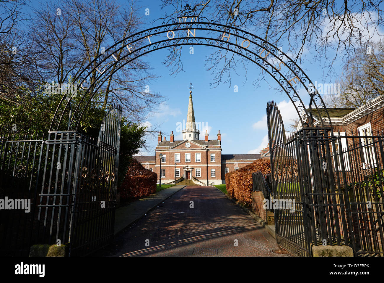 Clifton house former poor house in north Belfast Northern Ireland UK - Stock Image