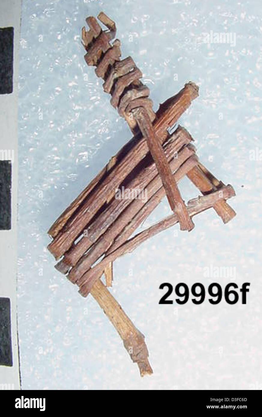 Split-Twig Figurine GRCA_29996f - Stock Image