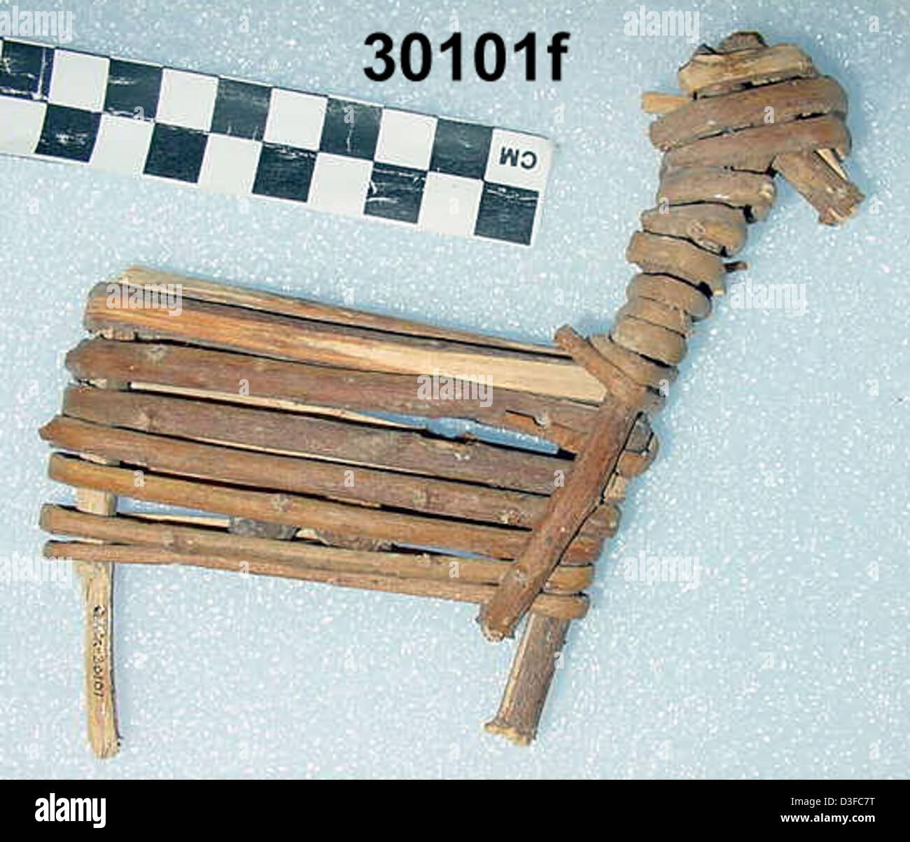 Split-Twig Figurine GRCA_30101f - Stock Image