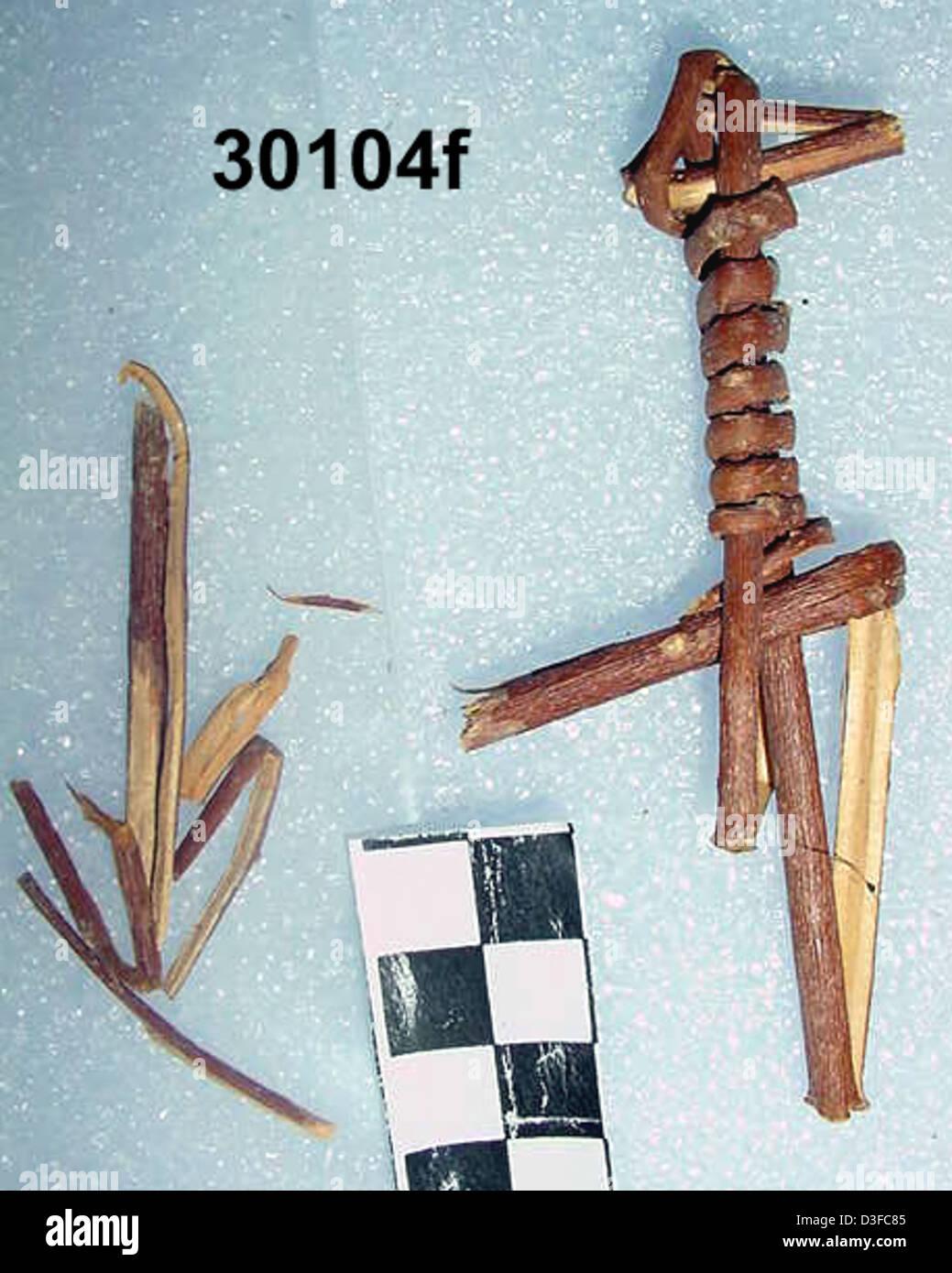 Split-Twig Figurine GRCA_30104f - Stock Image