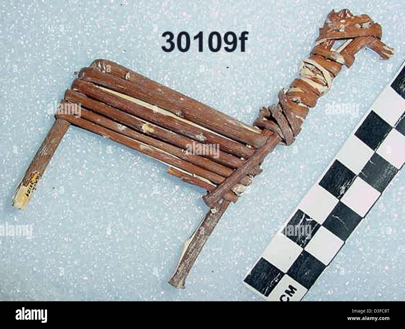 Split-Twig Figurine GRCA_30109f - Stock Image