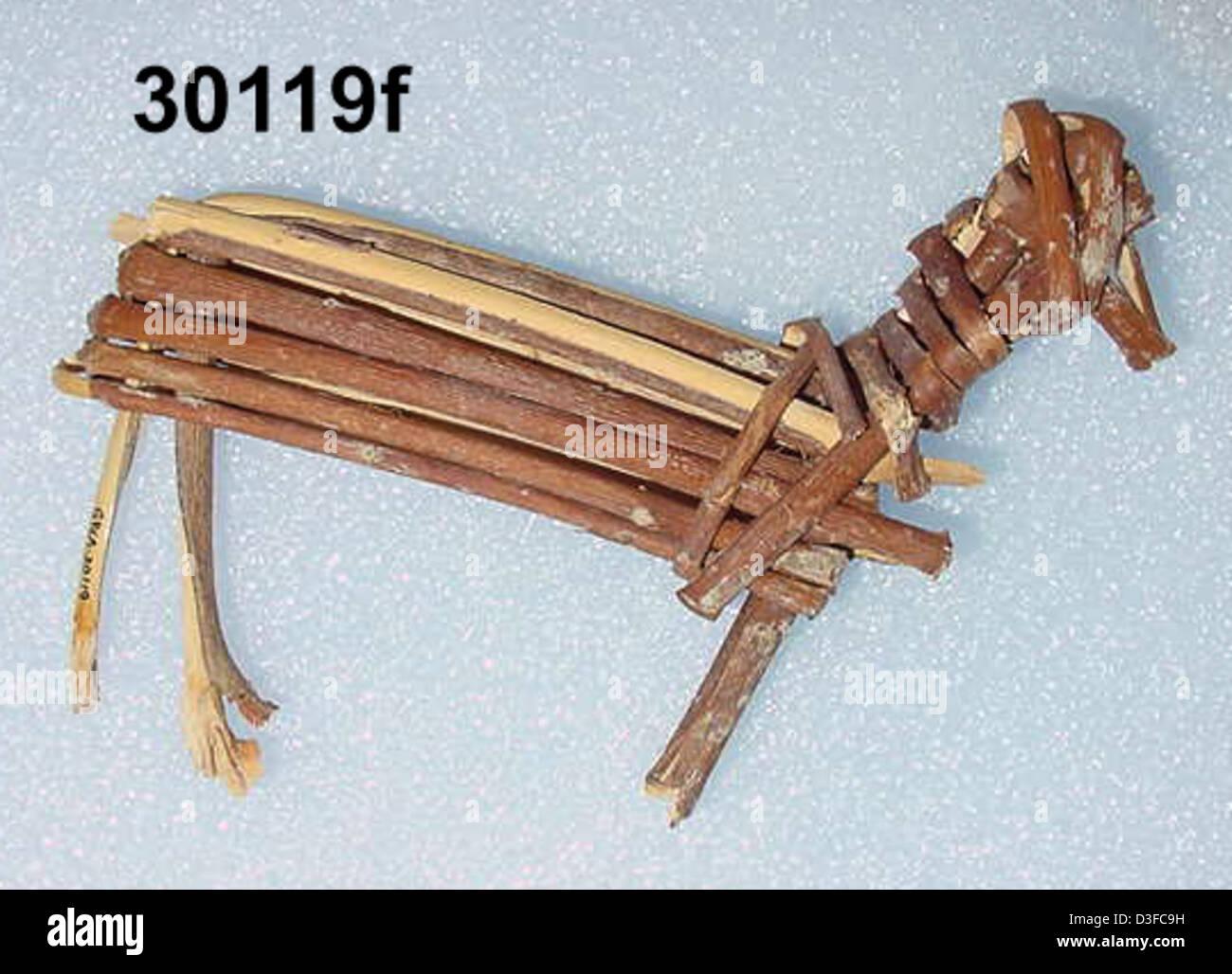 Split-Twig Figurine GRCA_30119f - Stock Image