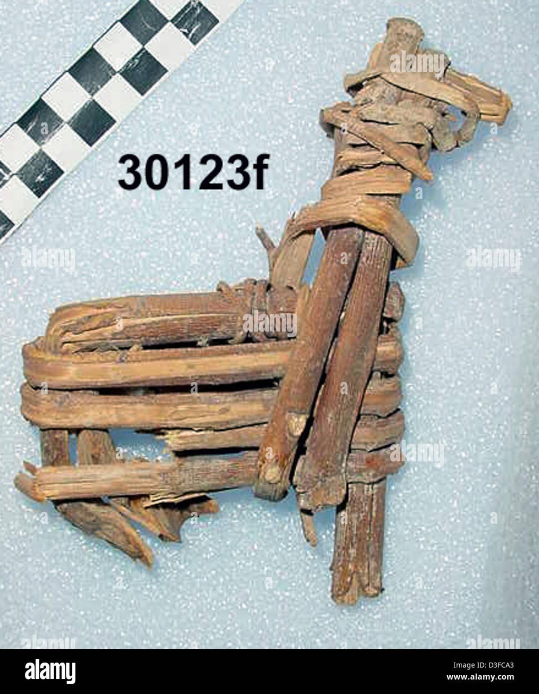 Split-Twig Figurine GRCA_30123f - Stock Image