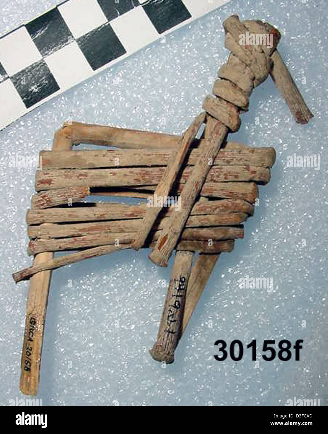 Split-Twig Figurine GRCA_30158f - Stock Image