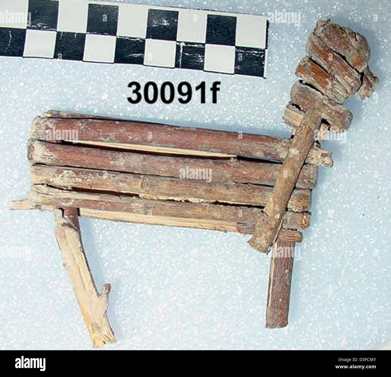 Split-Twig Figurine GRCA_30091f - Stock Image
