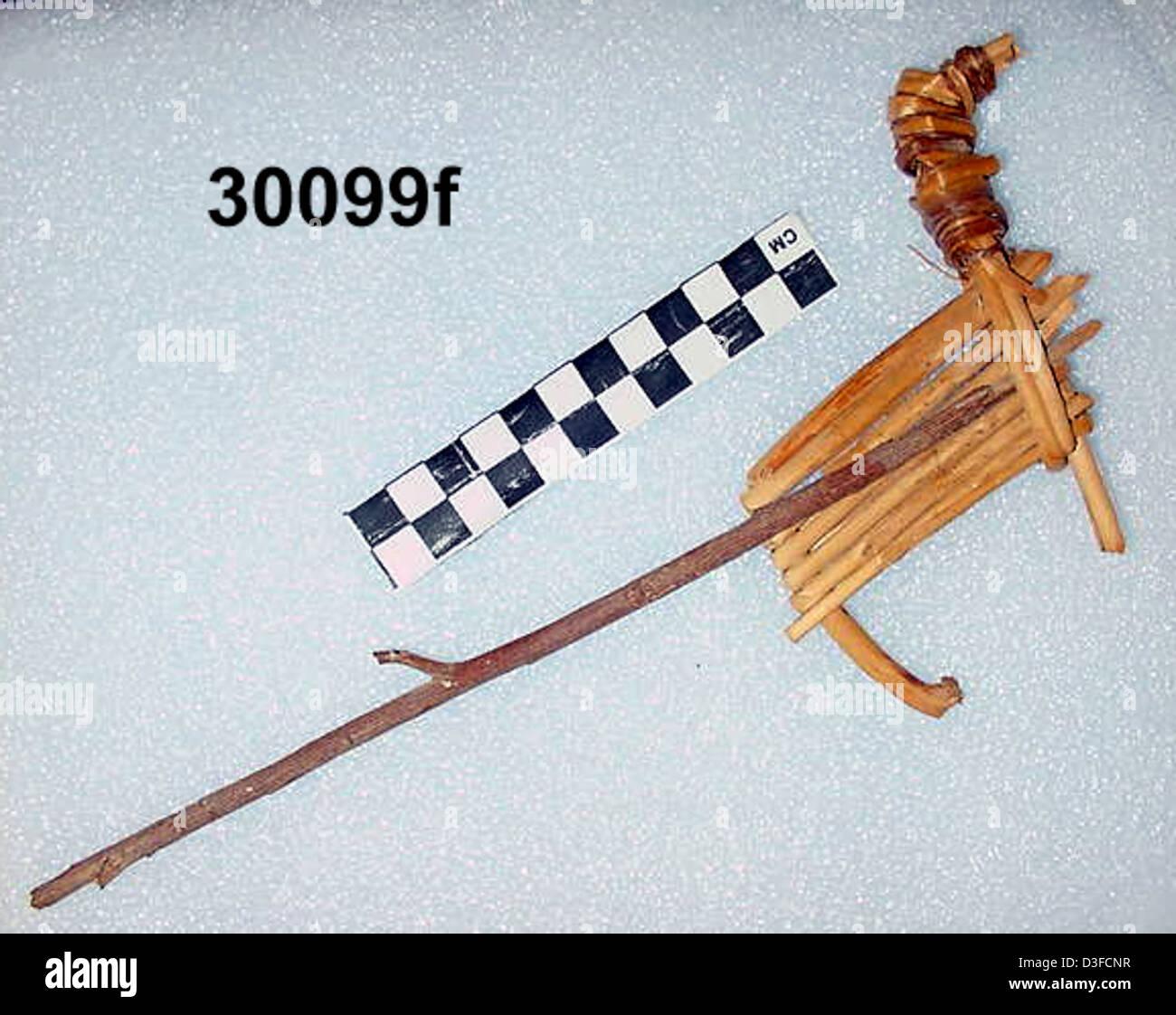 Split-Twig Figurine GRCA_30099f - Stock Image
