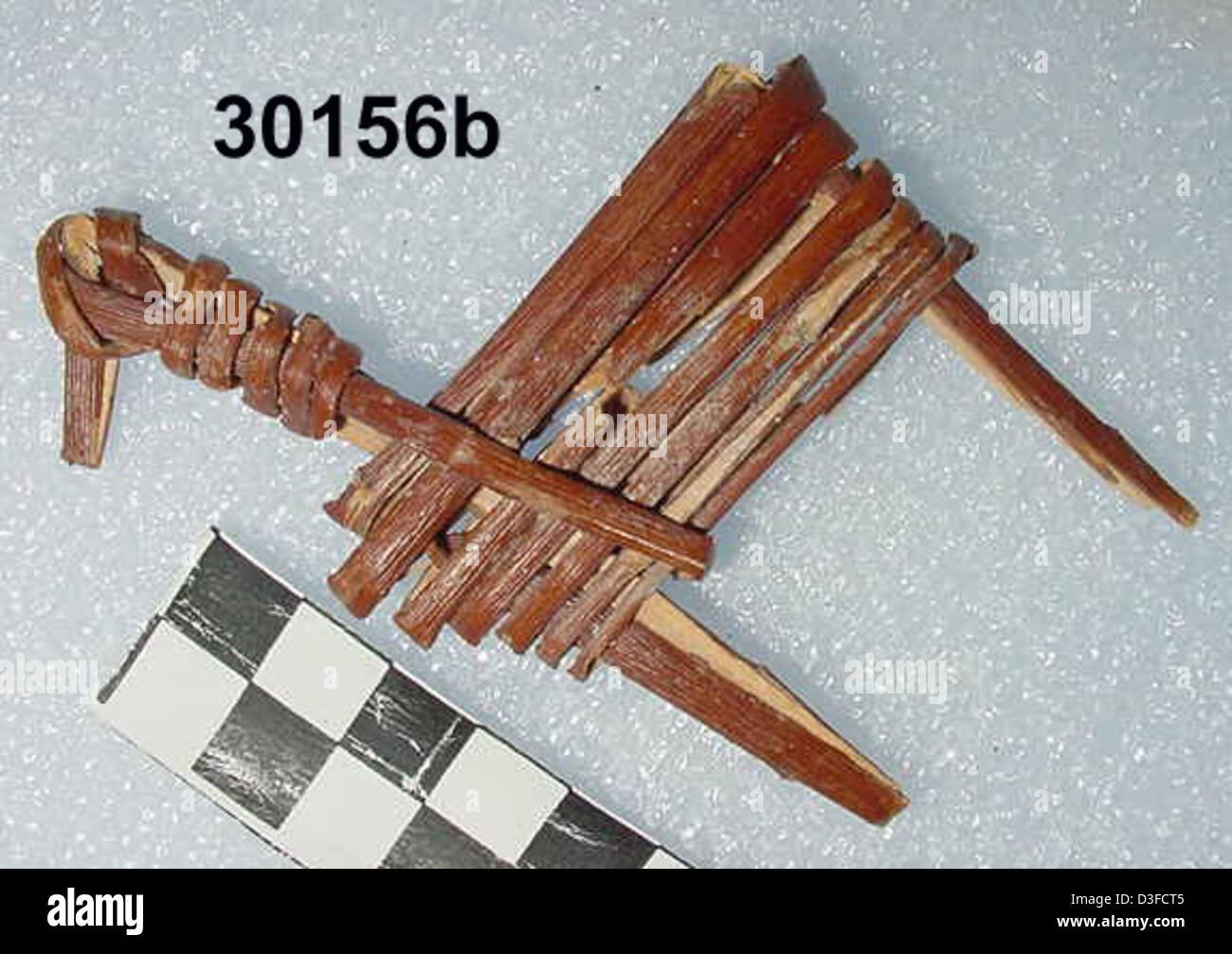 Split-Twig Figurine GRCA_30156b - Stock Image