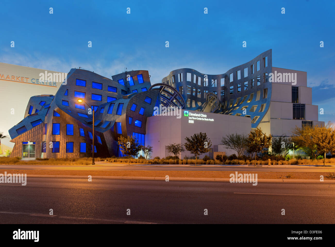 Frank Gehry's Cleveland Clinic Lou Ruvo Center for Brain Health, Las Vegas, Nevada, USA - Stock Image