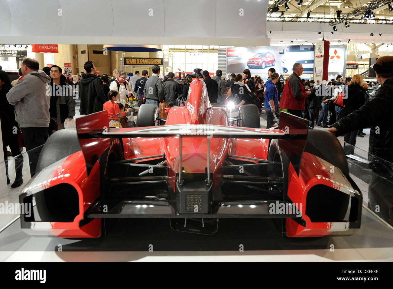 February 18, 2013. Toronto, Canada. Family Day at the 2013 Canadian International Autoshow. In picture, auto enthusiast - Stock Image