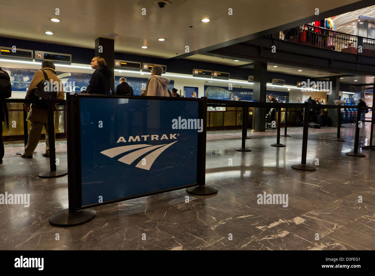 Amtrak ticket counter - USA - Stock Image