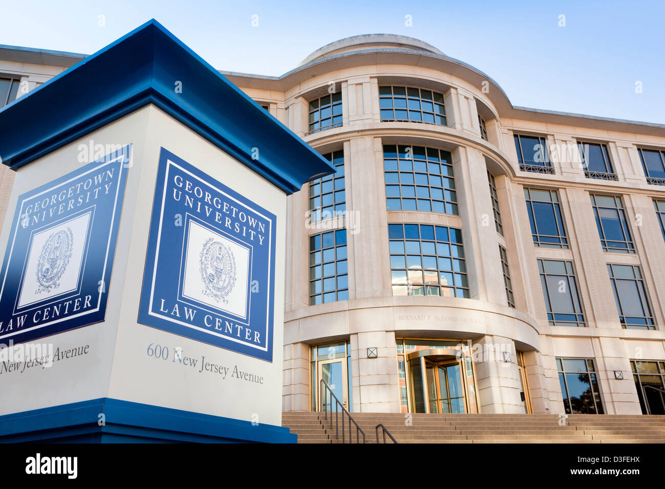 Georgetown University Law Center building - Washington, DC USA - Stock Image