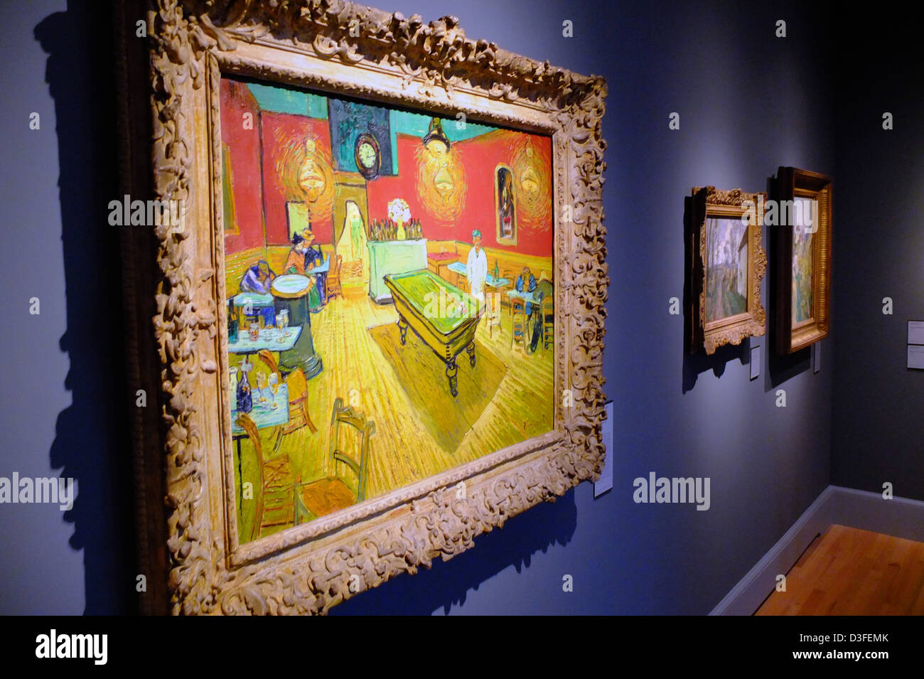Vincent Van Gogh Night Cafe with Pool Table painting in the Yale Art ...
