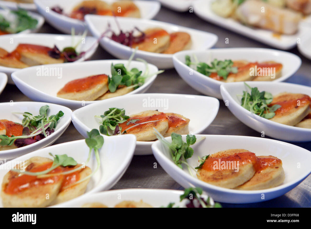Berlin, Germany, is stylishly directed Currywurst - Stock Image
