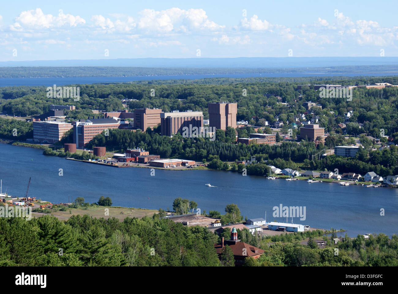 The Campus of Michigan Technological University - Stock Image