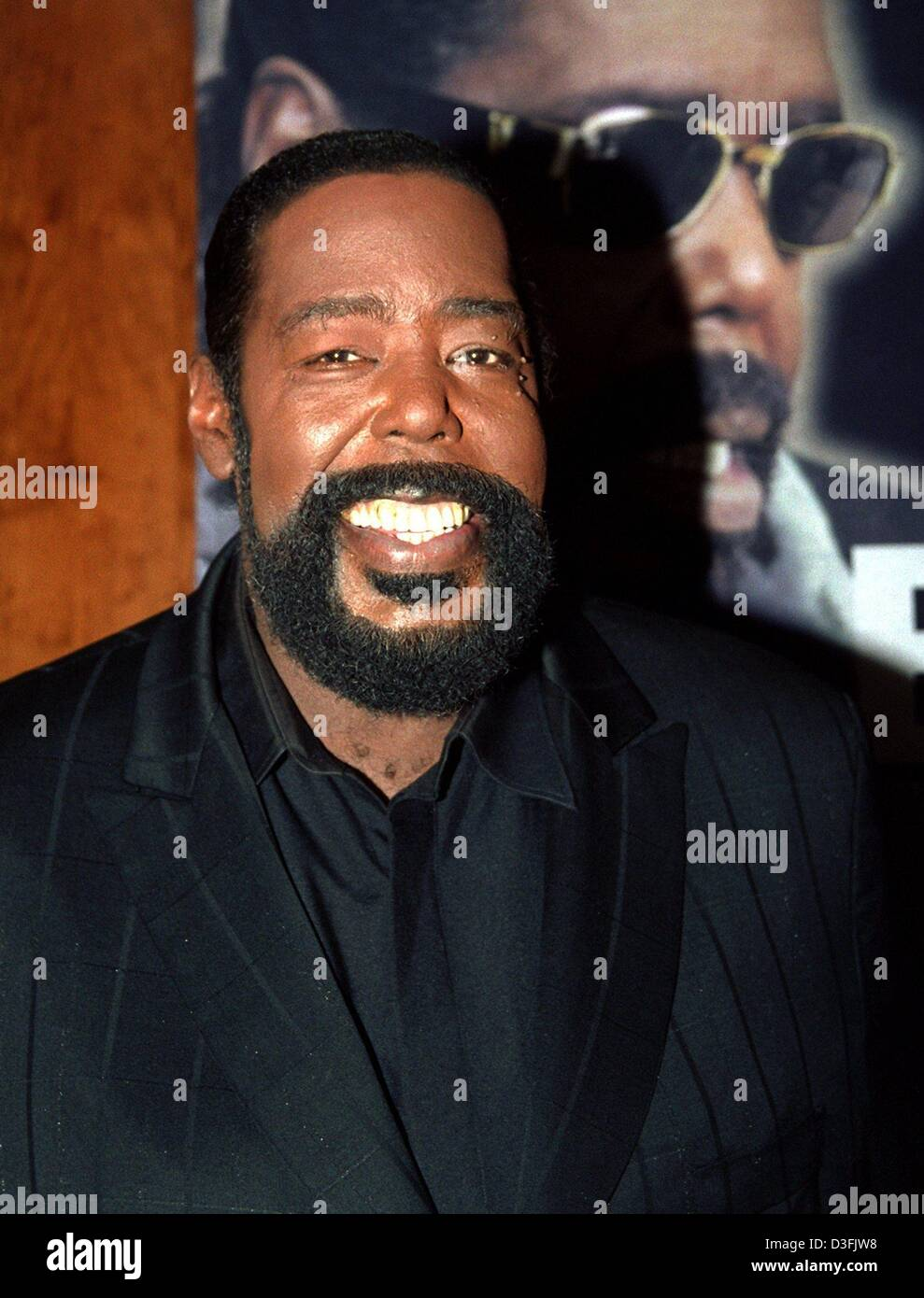(dpa files) - US singer Barry White pictured during a press conference in  Hamburg, 12 October 1999. The soul legend died on 4 July 2003 in Los  Angeles after ...