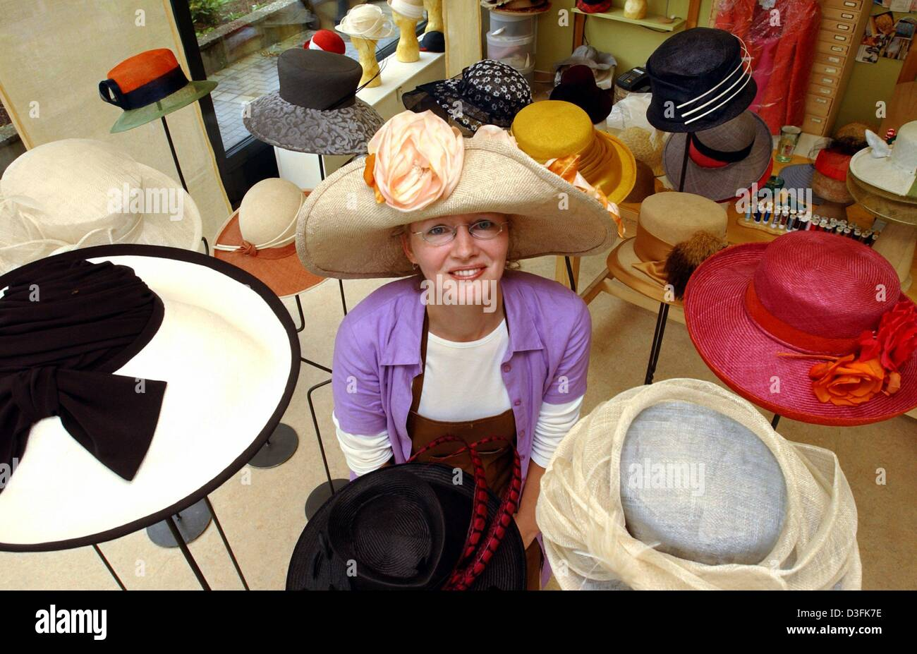(dpa) - Hat maker Susan Pieper is presenting some of her works in her shop  in Hamburg 3b2db868470e