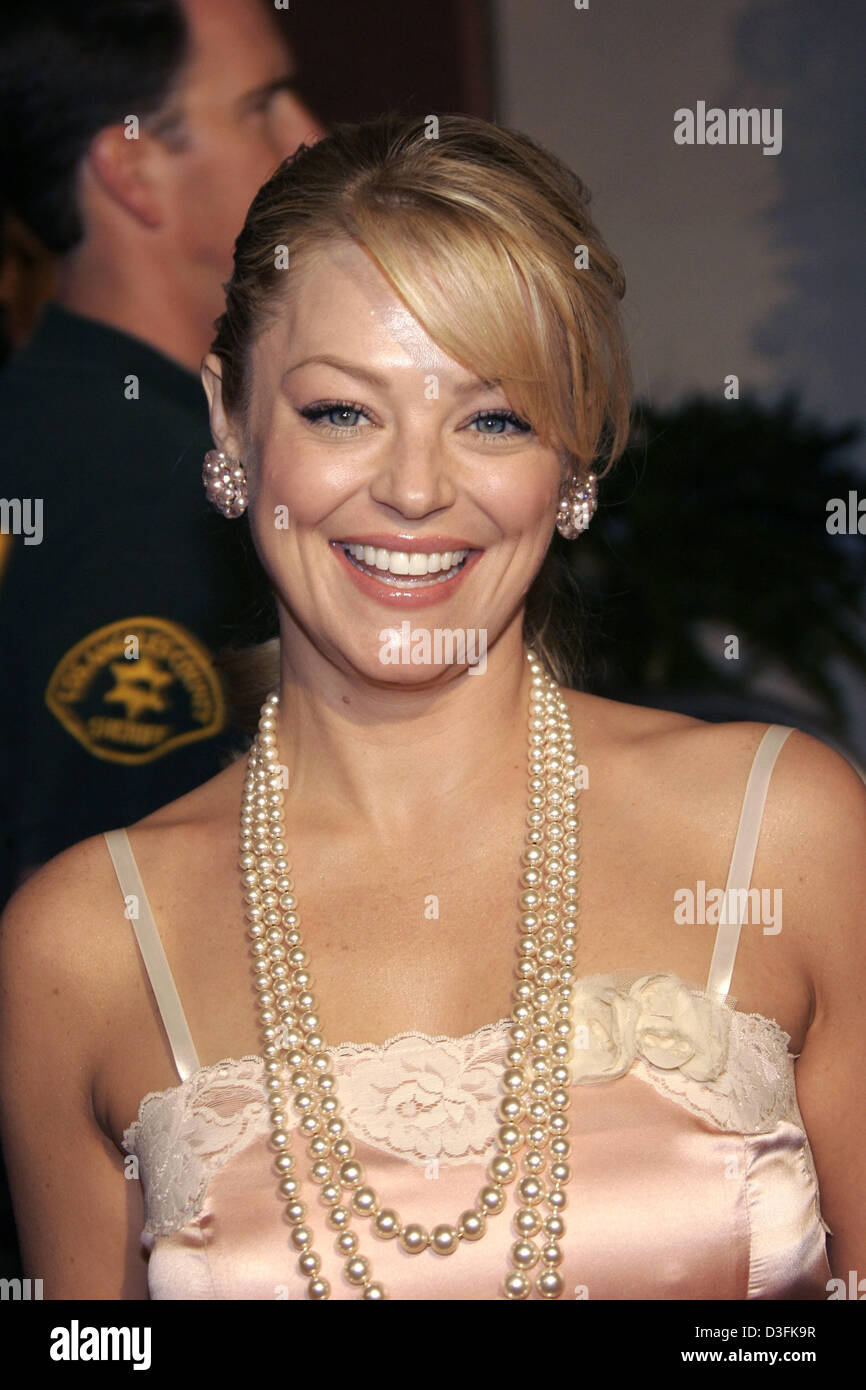 (dpa) - Actress Charlotte Ross poses prior to the 'Meet the Fockers' premiere in Los Angeles, USA, 16 December - Stock Image