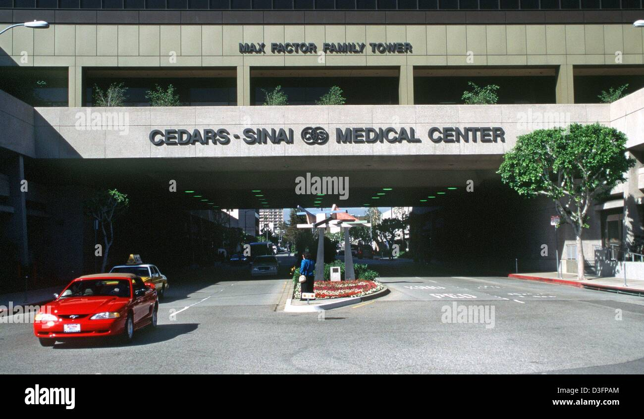 dpa files) - A view of the Cedars Sinai Medical Center in
