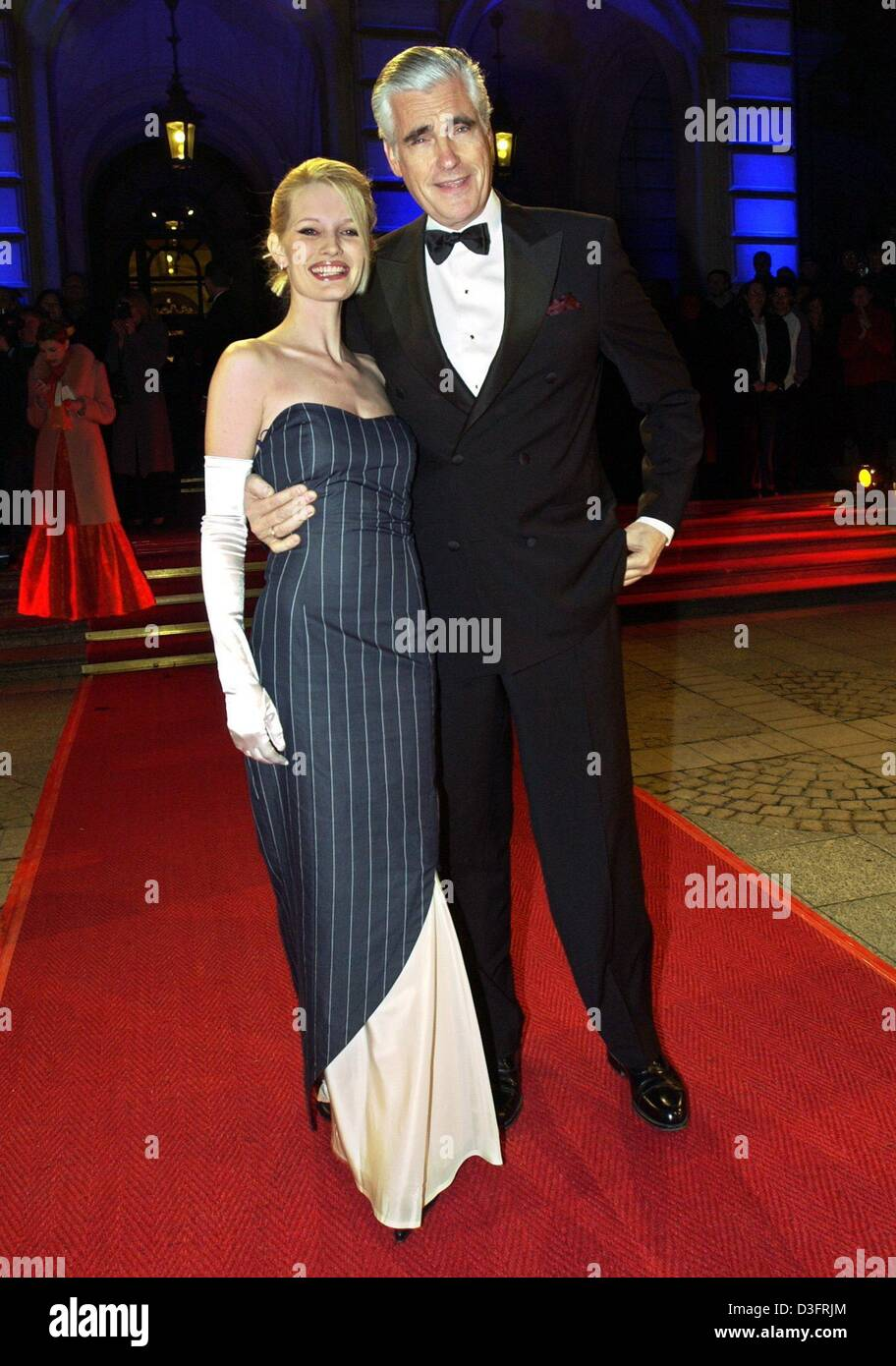 (dpa) - Actor Sky Du Mont ('Eyes Wide Shut', 'Der Schuh des Manitu') and his wife Mirja arrive to - Stock Image