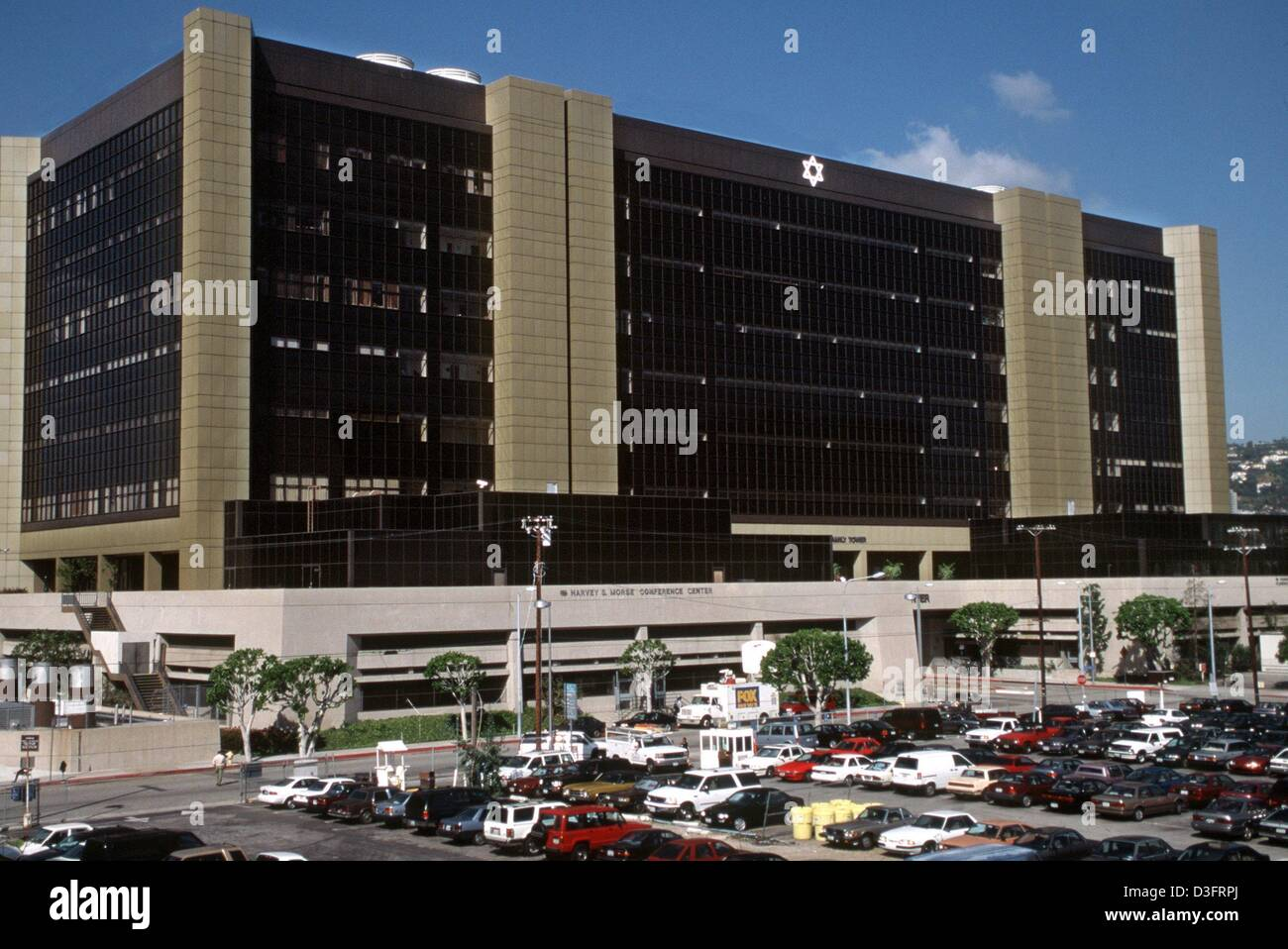 dpa files) - A view of the Cedars Sinai Medical Center in Hollywood