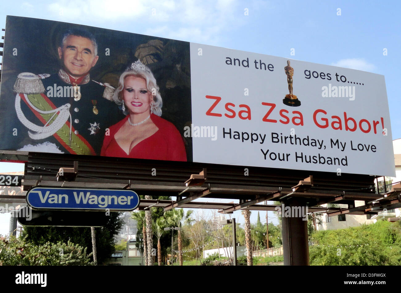 Handout a handout photo dated 18 february 2013 shows a giant stock handout a handout photo dated 18 february 2013 shows a giant greeting card on which prince frederic of anhalt congratulates his wife zsa zsa gabor on her m4hsunfo
