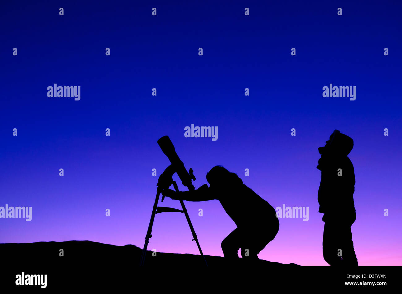 Stargazing People Stock Photos & Stargazing People Stock