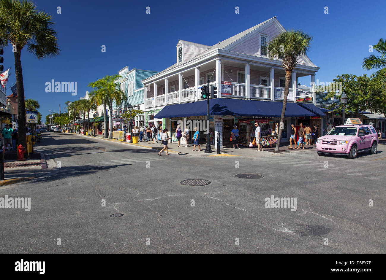 Streets of Key West, Florida, USA - Stock Image